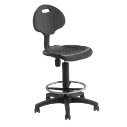National Public Seating 6700 Kangaroo Task Stool, Black Seat/Black Frame, Quantity: 1