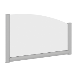 "Bush Business Furniture Desk Divider Privacy Panel, 30""W, Frosted Acrylic, Standard Delivery"