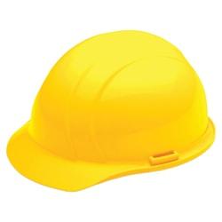 SKILCRAFT® Easy Quick-Slide Cap Safety Helmet, Yellow (AbilityOne 8415-00-935-3140)