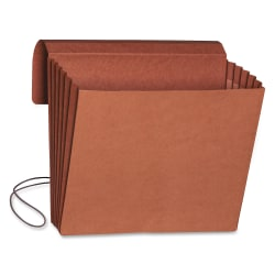 """Smead® Redrope Expanding Wallets With Elastic, Letter Size, 5 1/4"""" Expansion, 30% Recycled, Redrope, Pack Of 10"""