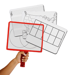 KleenSlate Customizable Whiteboards with Clear Dry Erase Sleeves-Set of 12