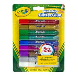 Crayola® Washable Glitter Glue Sticks, 0.35 Oz, Pack Of 9