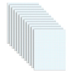 TOPS™ Quadrille Pads, 5 x 5 Squares/Inch, 50 Sheets, White/Blue