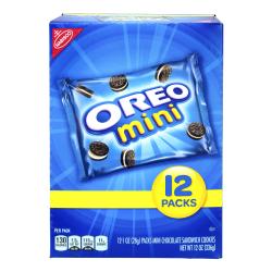 Oreo Mini Chocolate Sandwich Cookies, 1 Oz, Pack Of 48 Cookies