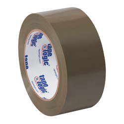 "Partners Brand Natural Rubber Carton Sealing Tape, 2 Mil, 2"" x 55 Yd., Tan, Case Of 6"