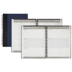 """Office Depot® Weekly/Monthly Planner, Wide, 8-1/2"""" x 11"""", Black/Blue, January to December 2020"""