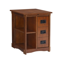 "Powell Molina Side Table, 24""H x 18-3/8""W x 22-5/8""D, Oak"