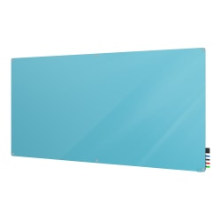 """Ghent Harmony Magnetic Glass Dry-Erase Board, 48"""" x 72"""", Blue"""