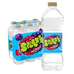 Nestlé® Splash Water Beverages, Wild Berry, 16.9 Oz, Pack Of 6 Bottles