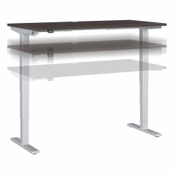 """Move 40 Series by Bush Business Furniture Height-Adjustable Standing Desk, 60"""" x 30"""", Storm Gray/Cool Gray Metallic, Standard Delivery"""