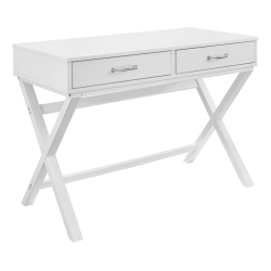"""Linon Frances 42""""W Desk With 2 Drawers, White"""
