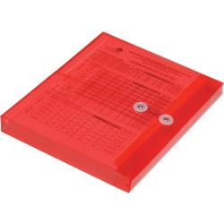 SKILCRAFT String Tie Side-load Expansion Envelopes - Document - Letter - String Tie - Polypropylene - 5 / Pack - Red