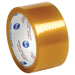 """Partners Brand Natural Rubber Carton Sealing Tape, 2.3 Mil, 2"""" x 55 Yd., Clear, Case Of 36"""
