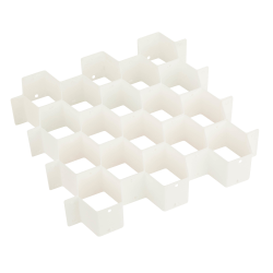 """Honey-Can-Do 32-Compartment Drawer Organizer, 2 13/16""""H x 13 7/16""""W x 15""""D, White"""