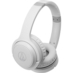 Audio-Technica ATH-S200BT Wireless On-Ear Headphones with Built-in Mic & Controls - Stereo - Wireless - Bluetooth - 32 Ohm - 5 Hz - 32 kHz - Over-the-head - Binaural - Circumaural - Condenser, Omni-directional Microphone - White