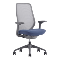 WorkPro® 6000 Series Mesh/Fabric Multifunction High-Back Task Chair, Blue/Charcoal/Gray