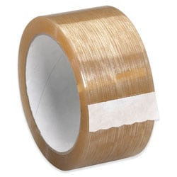 """Partners Brand Natural Rubber Carton Sealing Tape, 2.3 Mil, 2"""" x 110 Yd., Clear, Case Of 6"""