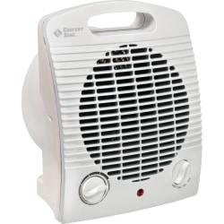 """Comfort Zone Heater/Fan, 750/1500 Watts, 7 1/4""""H x 4 7/8""""W x 8 5/8""""D, White"""