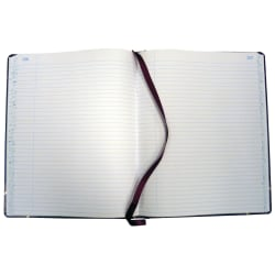 """Boorum & Pease® Account Book, Record, 7 5/8"""" x 9 5/8"""", 300 Pages, Black/Burgundy"""