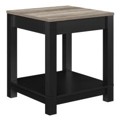 Ameriwood™ Home Carver End Table, Square, Weathered Oak/Black