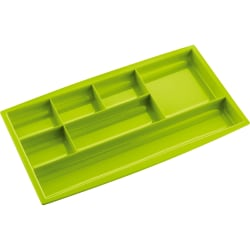 """CEP 7-compartment Desk Drawer Organizer - 7 Compartment(s) - 0.8"""" Height x 13.5"""" Width7.3"""" Length - Green - Polystyrene - 1 Each"""