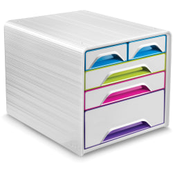 "CEP Gloss Desktop Drawer Storage Unit - 5 Drawer(s) - 10.6"" Height x 11.4"" Width14.3"" Length - Desktop - Multi - 1Each"