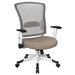 Office Star™ Space Seating Mesh Mid-Back Chair, Cotton/White