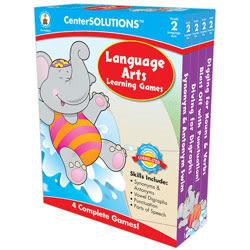 Carson-Dellosa CenterSOLUTIONS™ Learning Games, Language Arts, Grade 2