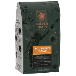 Copper Moon Coffee Whole Bean Bags, Southern Pecan, 32 Oz, Carton Of 4 Bags