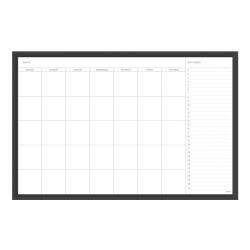 "U Brands Magnetic Dry-Erase Calendar Whiteboard, 24"" x 36"", Aluminum Frame With Black Finish"