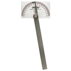 Stainless Steel Protractors, 6 in, Square Head