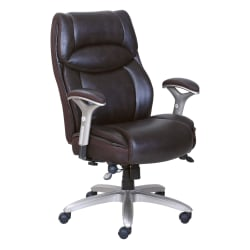 Serta® Smart Layers™ Jennings Big And Tall Executive Bonded Leather High-Back Chair, Brown