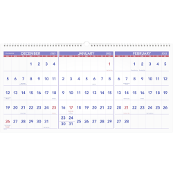 """AT-A-GLANCE® 15-Month Horizontal Wall Calendar, 24"""" x 12"""", December 2021 To February 2023, PM1428"""