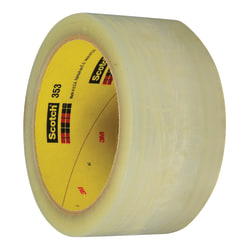 "3M™ 353 Carton Sealing Tape, 3"" Core, 2"" x 55 Yd., Clear, Case Of 36"