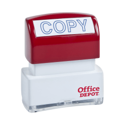 "Office Depot® Brand Pre-Inked Message Stamp, ""Copy"", Blue"