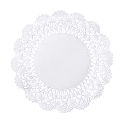 """Hoffmaster Cambridge Lace Doilies, 5"""", White, Case Of 10,000 Doilies"""