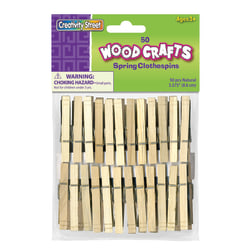 Chenille Kraft Clothespins, Spring, Box Of 50