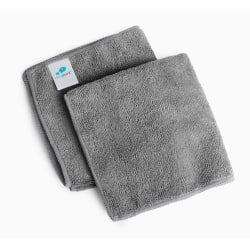 """IdeaPaint Microfiber Cleaning Cloths, 11"""" x 11"""", Gray, Pack Of 2 Cloths"""