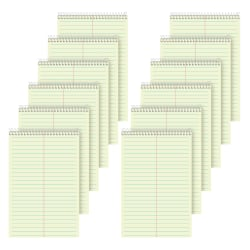 """TOPS™ Steno Books, 6"""" x 9"""", Gregg Ruled, 80 Sheets, Green, Pack Of 12"""
