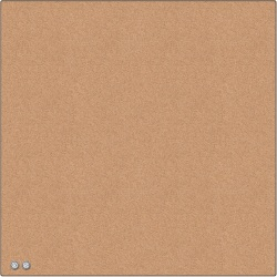 """U Brands Square Cork Bulletin Board, 14 x 14 Inches, Frameless, Natural, Push Pins Included (463U00-04) - Natural Cork Surface - Self-healing, Frameless, Easy Installation, Sleek Style, Self-healing, Mounting System - 1 Each - 14"""" x 14"""""""