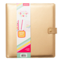 "American Crafts Damask Love Colorfun Planner, 8"" x 6"", Undated, Gold, 356269"