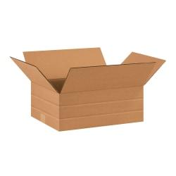 "Office Depot® Brand Multi-Depth Corrugated Cartons, 16"" x 12"" x 6"", Scored 4"", 2"", Kraft, Pack Of 25"