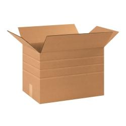 "Office Depot® Brand Multi-Depth Corrugated Cartons, 17 1/4"" x 11 1/4"" x 12"", Scored 10"", 8"", 6"", Kraft, Pack Of 25"