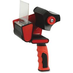 "Sparco Handheld Tape Dispenser - 3"" Core - Refillable - Ergonomic Design, Adjustable Tension Mechanism, Durable - Red, Black"