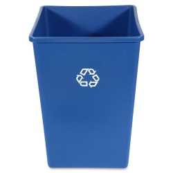 """Rubbermaid 3958-73 Recycling Container - 35 gal Capacity - Square - 27.6"""" Height x 19.5"""" Width x 19.5"""" Depth - Plastic - Blue - 1 Each"""