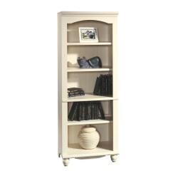 Sauder® Harbor View 5-Shelf Bookcase, Antiqued White