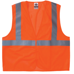 Ergodyne GloWear® Safety Vest, 8210HL Economy Mesh Type-R Class 2, Small/Medium, Lime