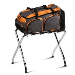 "Honey-Can-Do Folding Luggage Rack, 26 5/8""H x 15""W x 21 1/2""D, Chrome"