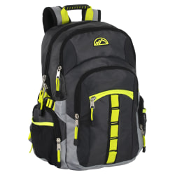 "Trailmaker Athletic Backpack With 17"" Laptop Pocket, Charcoal/Black"