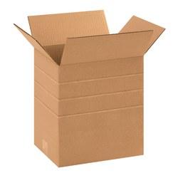 "Office Depot® Brand Multi-Depth Corrugated Cartons, 11 2/4"" x 8 3/4"" x 12"", Scored 10"", 8"", 6"", Kraft, Pack Of 25"